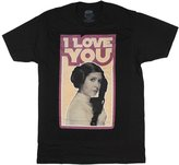 Fifth Sun Star Wars Princess Leia Quote I Love You Mens Graphic T Shirt