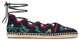 Tory Burch Sonoma Embroidered Ghillie Espadrilles