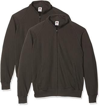 Fruit of the Loom Men's Lightweight Sweat Jacket Sweatshirt,S