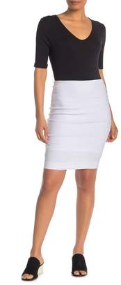 Jarbo Solid Stretch Knit Pencil Skirt