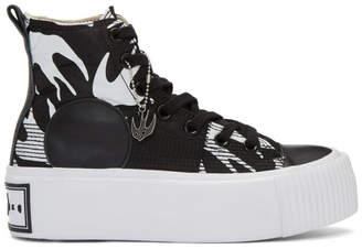 McQ Black Plimsoll Platform High Sneakers