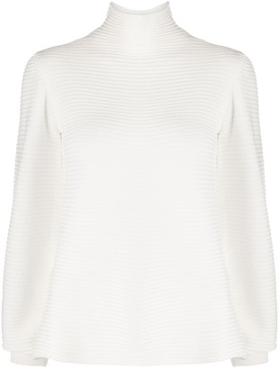 Emporio Armani Striped Turtleneck Jumper