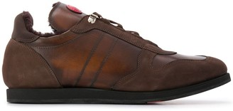 Kiton Leather Lace Up Trainers