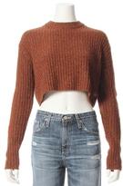 Tibi Elbow Patch Crewneck Neck Speckle Sweater