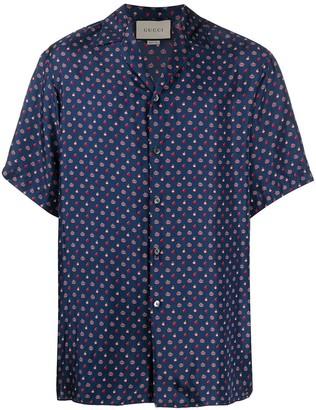 Gucci GG apple motif silk shirt