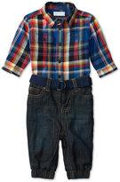 Ralph Lauren Boys' Plaid Workshirt & Denim Pants Set