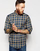 Patagonia Shirt With Check In Pima Cotton Regular Fit - Blue