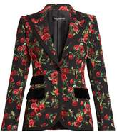 Dolce & Gabbana Single-breasted rose-print jacket