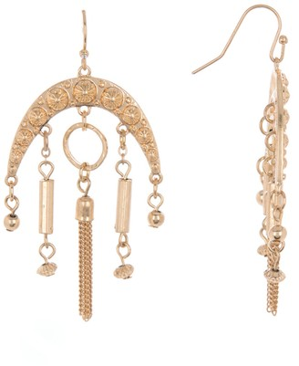 Melrose and Market Bead & Tassel Chandelier Drop Earrings