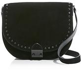 Loeffler Randall Large Suede Studded Saddle Bag - 100% Exclusive