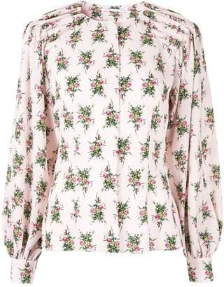 Emilia Wickstead rose print blouse
