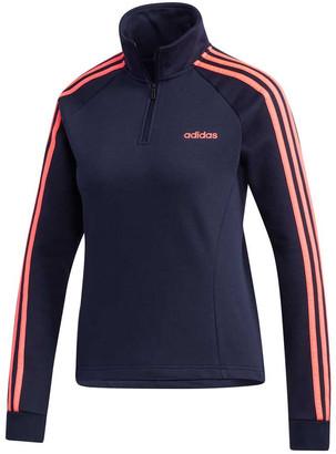 adidas Womens Essentials 3 Stripes Fleece 1/4 Zip Jacket