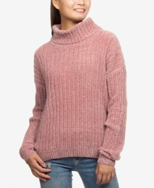 Hippie Rose Juniors' Chenille Turtleneck Sweater
