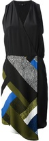 Tibi foulard panel dress