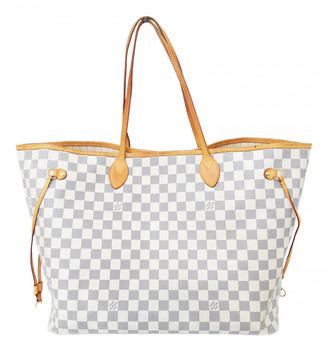 Louis Vuitton Neverfull White Cloth Handbags