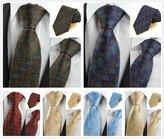 BUYEONLINE Men's Colorful Paisley Ties