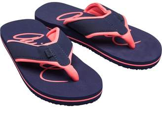 Animal Womens Swish Logo Flip Flops Mid Navy Blue