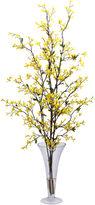 Asstd National Brand Nearly Natural Forsythia With Vase Silk Flower Arrangement