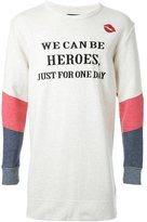 "Dresscamp Heroes"" print sweatshirt"
