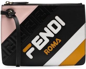 Fendi Mania Triplette XS leather clutch bag