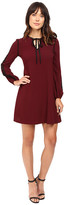 Taylor Stretch Crepe Long Sleeve Trapez Dress