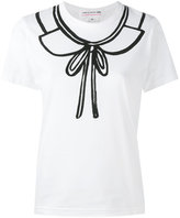 Comme des Garcons collar print T-shirt - women - Cotton - XS
