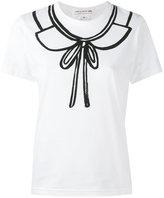 Comme des Garcons collar print T-shirt