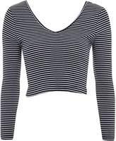 Topshop PETITE Stripe Kaia Crop T-Shirt