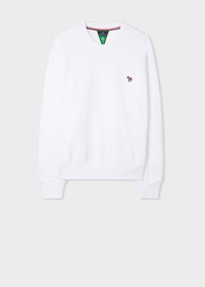 Paul Smith Women's White Zebra Logo Organic Cotton Sweatshirt