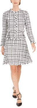 Julia Jordan Tweed A-Line Jacket Dress
