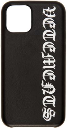 Vetements Black Logo iPhone 11 Case