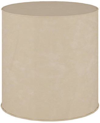 One Kings Lane Harper Faux-Leather Ottoman - Taupe