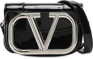 Valentino Supervee Sm Patent Leather Shoulder Bag