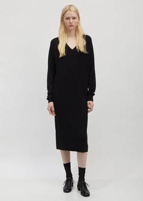 Haider Ackermann Ribbed Cotton and Silk Sweater Dress