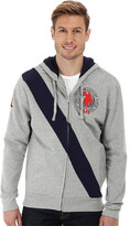 U.S. Polo Assn. Diagonal Stripe Fleece Hooded Jacket
