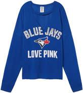 PINK Toronto Blue Jays Cutout Choker Varsity Crew
