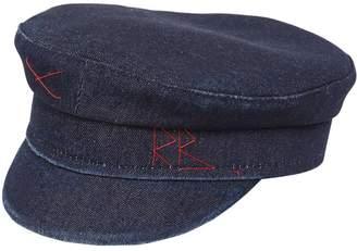 Ruslan Baginskiy BAKER BOY COTTON DENIM CAP