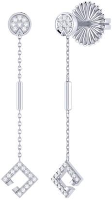 Lmj Straight Lace Street Earrings In Sterling Silver