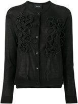 Simone Rocha embroidered cardigan - women - Silk/Cashmere/Merino - S