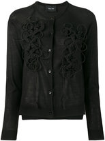 Simone Rocha embroidered cardigan - women - Silk/Cashmere/Merino - XS