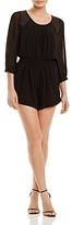 Twelfth Street By Cynthia Vincent Beaded Shoulder Chiffon Romper
