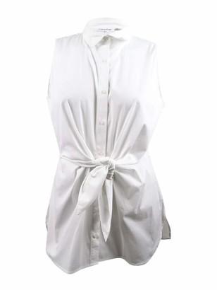 Calvin Klein Women's Sleeveless Tie Waist Tunic