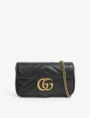 Gucci GG Marmont Super Mini leather shoulder bag