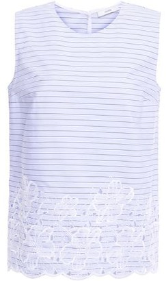 Erdem Naomi Striped Broderie Anglaise Cotton Top