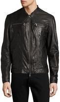 John Varvatos Star U.S.A. Leather Zip-Pocket Moto Jacket