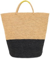 Sensi Studio Maxi Color Block Straw Beach Basket