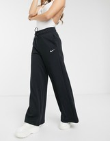 Nike black wide Leg high Waist sweatpants