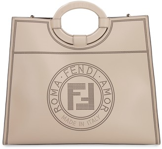 Fendi Runaway Smooth Leather Tote Bag