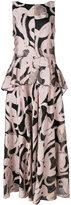 Talbot Runhof Lovato dress - women - Silk/Polyamide/Polyester/Cupro - 34