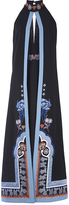 Temperley London Parchment Embroidered Halter Crepe Dress